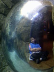 Boy in a plastic bubble
