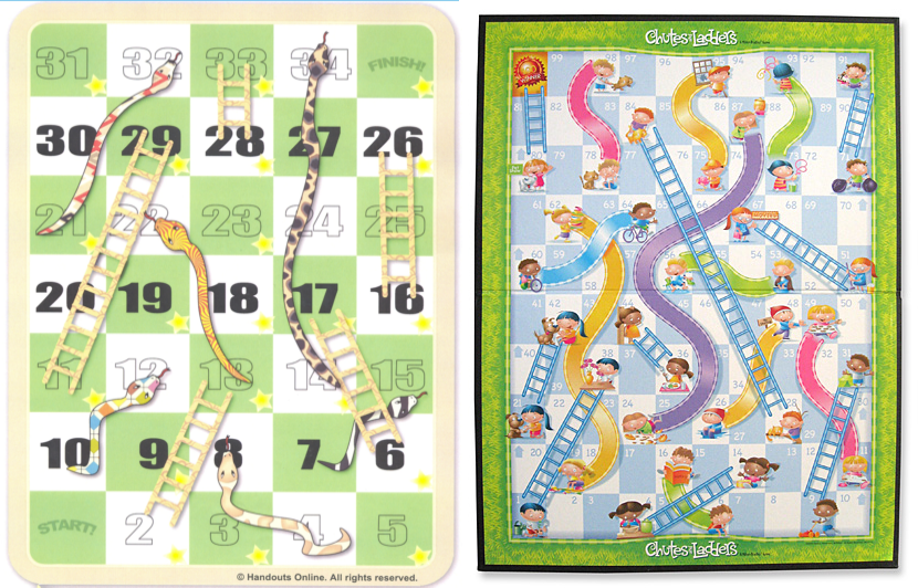 Bpd the snakes or chutes ladders of mental health for Chutes and ladders board game template