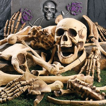 Structure and discipline voices of glass for Bag of bones halloween decoration