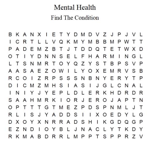 anxiety schizophrenia paranoia depression bipolar disorder stress