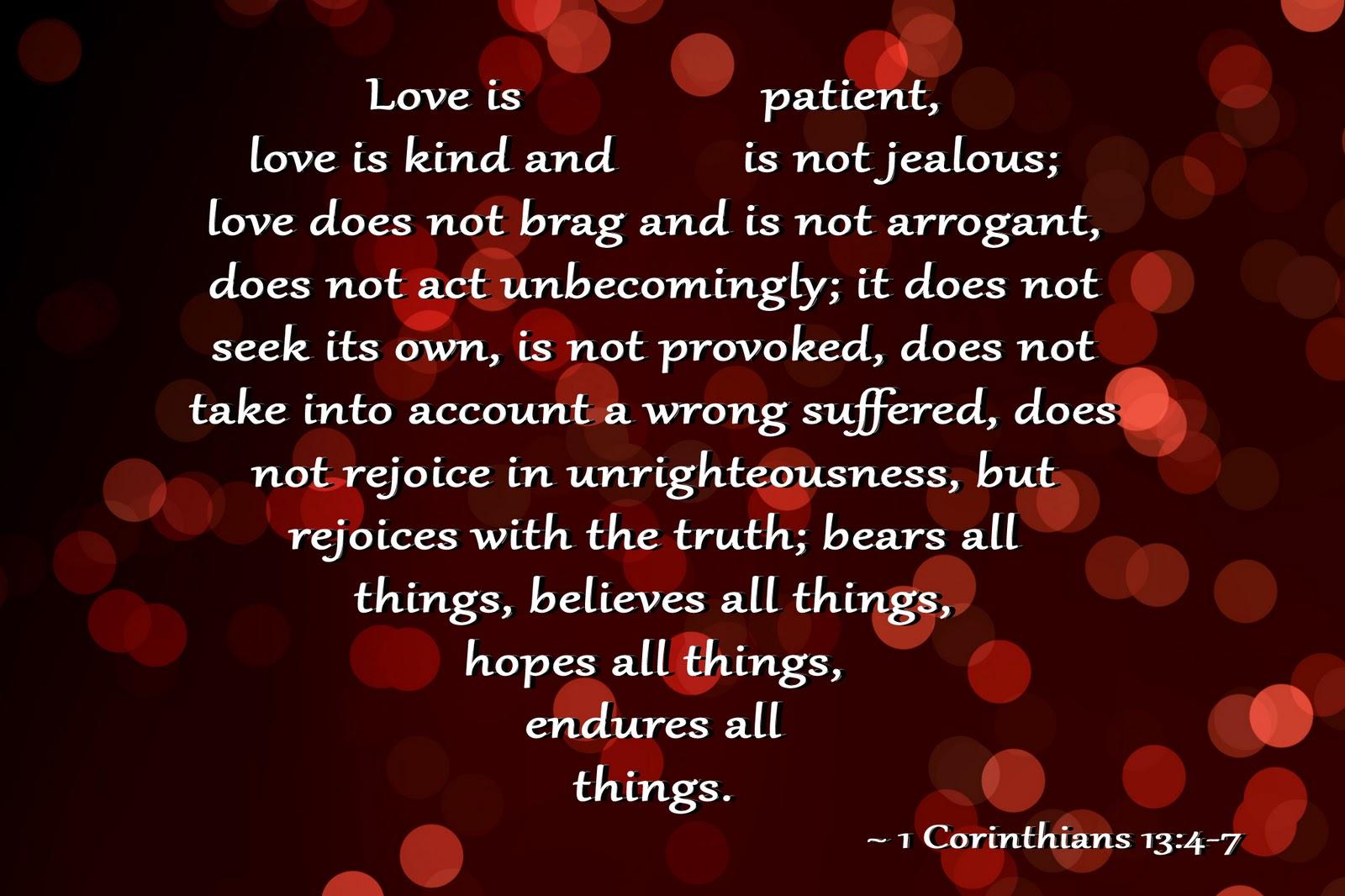 Corinthians Niv 1 13 1 Corinthians 13 4-7