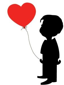Boy Heart Balloon Happy