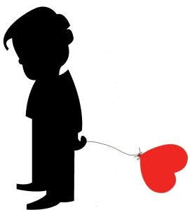 Boy Heart Balloon Sad